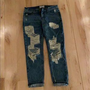 Distressed One Teaspoon Boyfriend Jeans